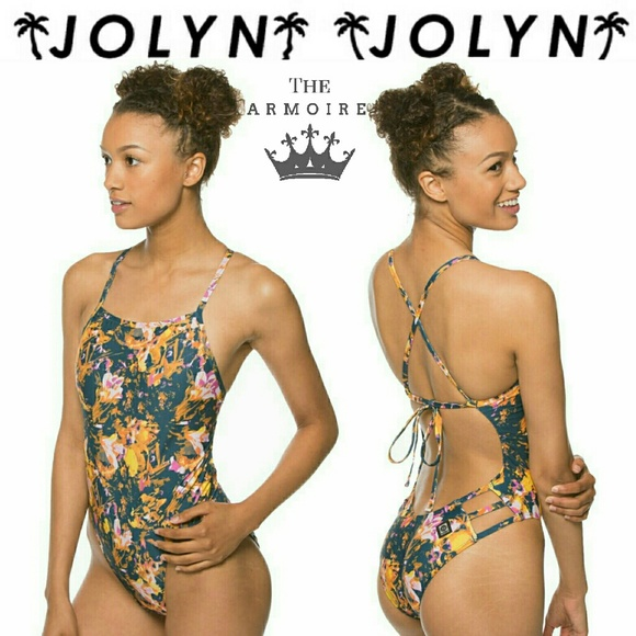 4427109bb24 Jolyn Clothing Swim | Jolyn Mateo Floral Hibiscus Tie Back One Piece ...